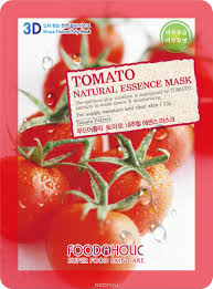FOODAHOLIC TOMATO NATURAL ESSENCE MASK  Тканевая 3D маска с натуральным экстрактом томата 23г
