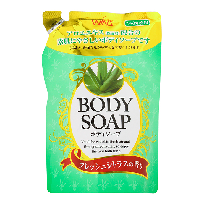 "Крем-мыло для тела ND ""Wins Body Soap aloe"" с экстрактом алоэ и богатым ароматом, МУ, 400 мл"